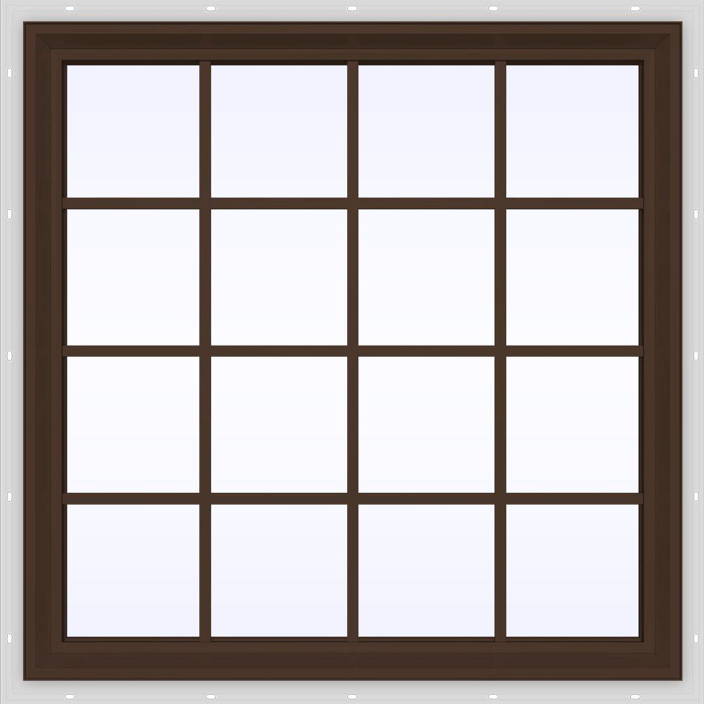47.5 in. x 47.5 in. V-2500 Series Fixed Picture Vinyl Window