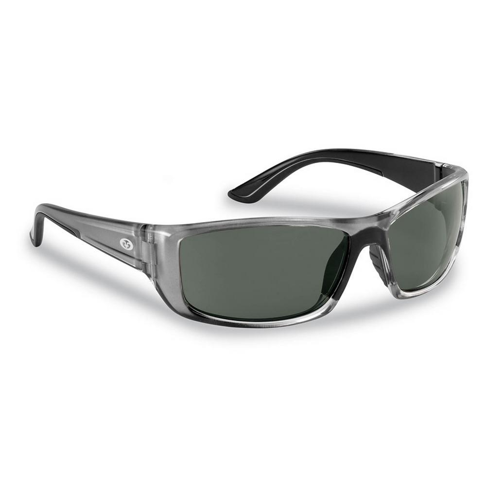 Buchanan Polarized Sunglasses Crystal Gunmetal Frame with Smoke Lens