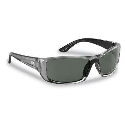 Buchanan Polarized Sunglasses Crystal Gunmetal Frame with Smoke Lens