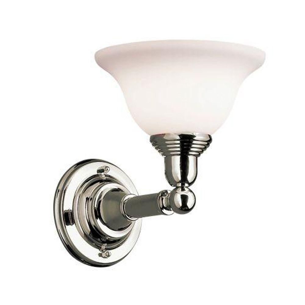 Eurofase Diana Collection 1-Light Polished Chrome Wall Sconce -DISCONTINUED