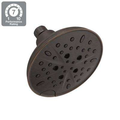5-Spray 6 in. Round Showerhead with Pause in SpotShield Venetian Bronze