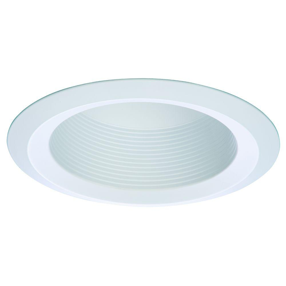White Recessed Ceiling Light Full Cone Baffle with Self Flanged