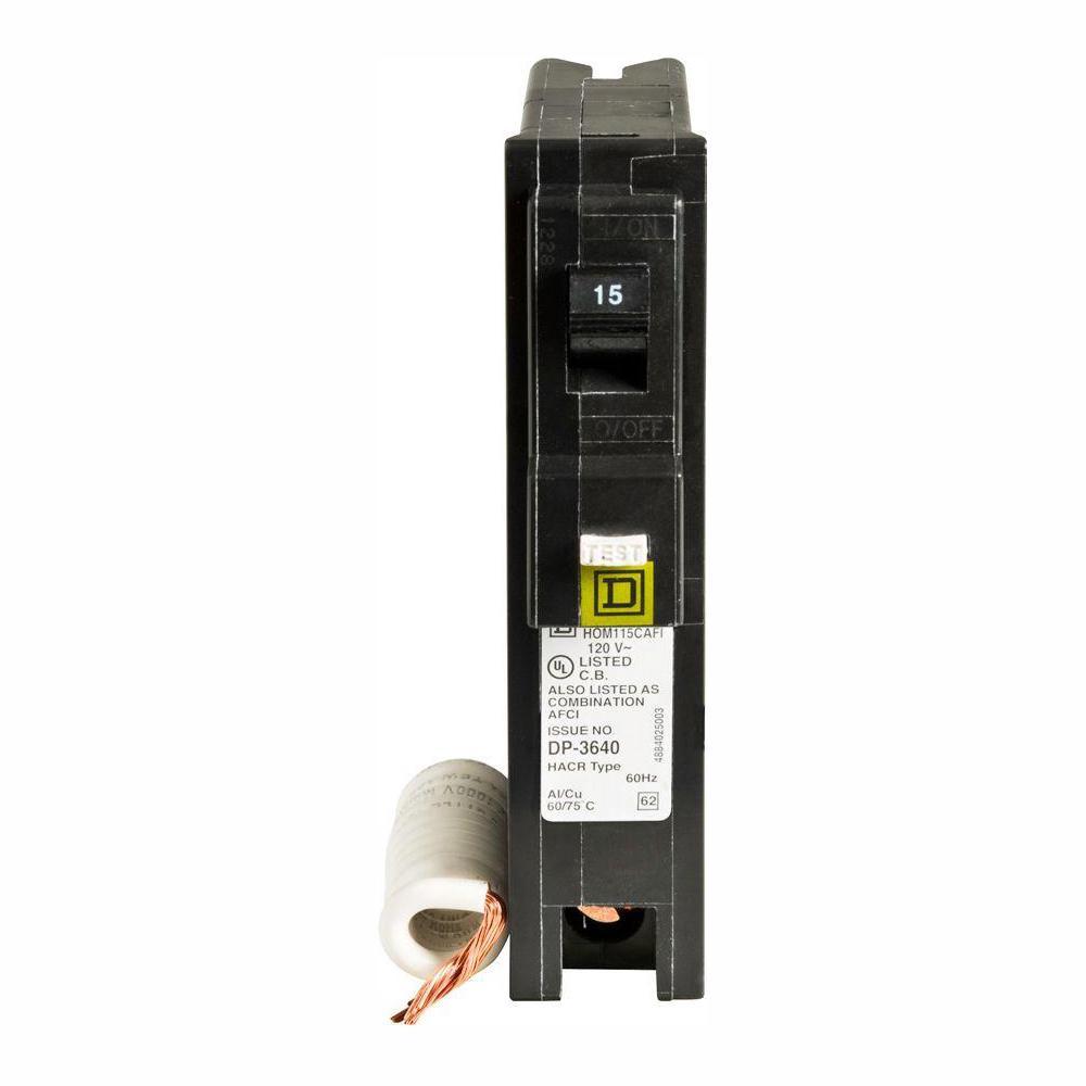 Homeline 15 Amp Single-Pole Combination Arc Fault Circuit Breaker (6-Pack)