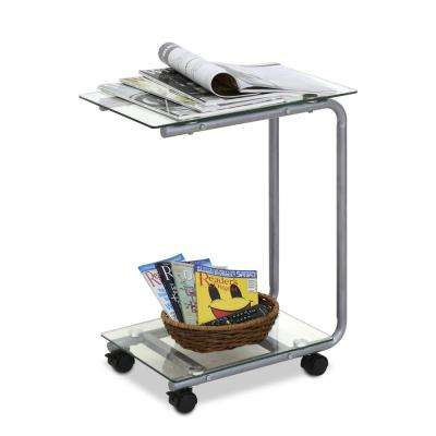 Kaca Clear Glass Side Table