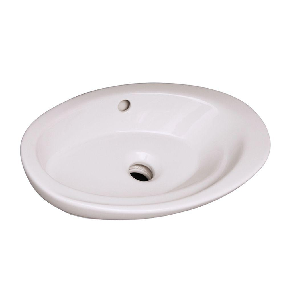 Infinity Sink: Barclay Products Infinity Vessel Sink In White-4-323WH