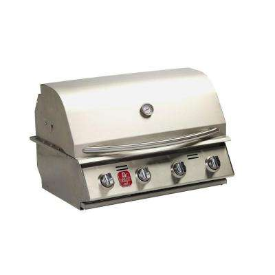 4-Burner Built-in Propane Gas Grill in Stainless Steel