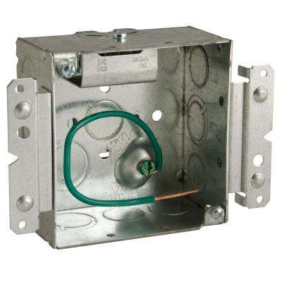 Stab-It 4 in. Metal Square Electrical Box (25-Pack)