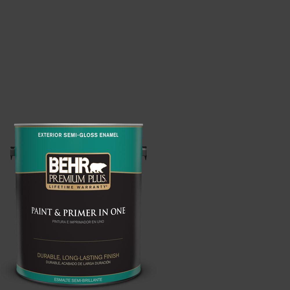 1-gal. #BNC-38 Spade Black Semi-Gloss Enamel Exterior Paint