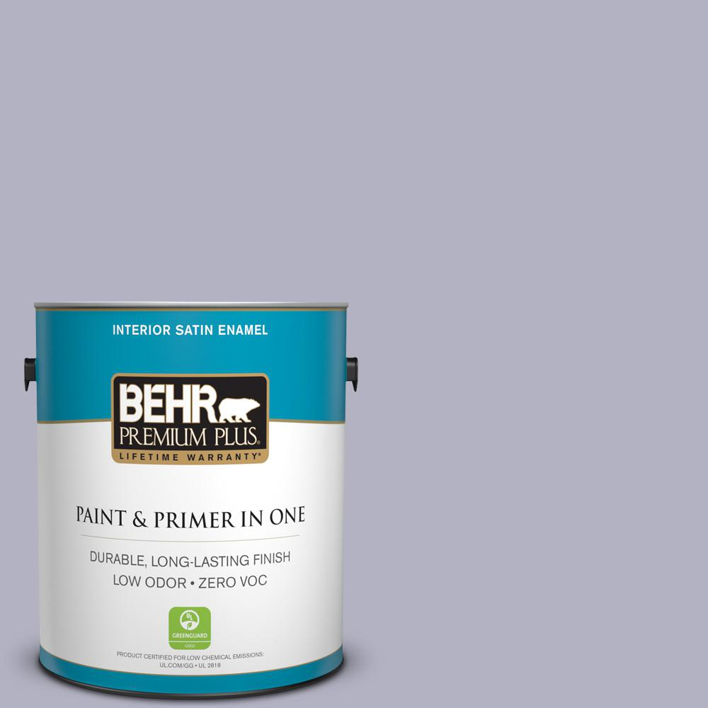 1-gal. #640F-4 Fading Sunset Zero VOC Satin Enamel Interior Paint