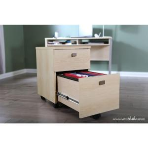 +2. South Shore Interface Natural Maple File Cabinet