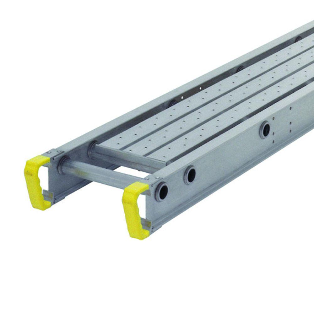 Werner 2024 250-Pound Duty Rating 1-Person Aluminum Decorator Plank 12-Inch Wide 24-Feet Long