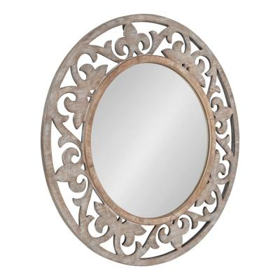 Medium Round White Classic Mirror (31.5 in. H x 31.5 in. W)