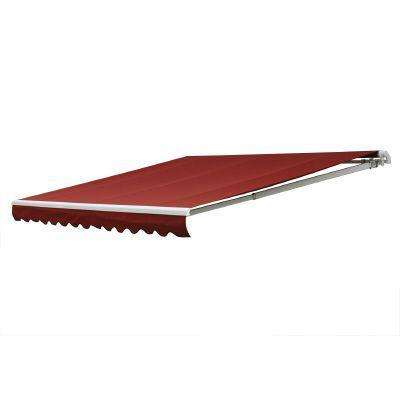 12 ft. 7000 Series Motorized Retractable Awning (122 in. Projection) in Red