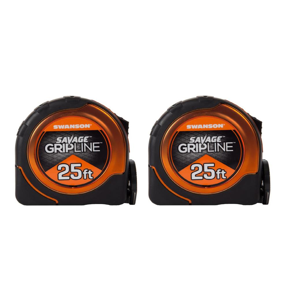 Swanson Gripline and 25 ft. Proscribe Combo Tape Measures (2-Pack)
