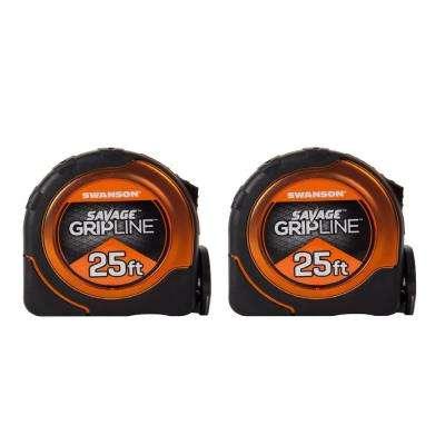 Gripline and 25 ft. Proscribe Combo Tape Measures (2-Pack)