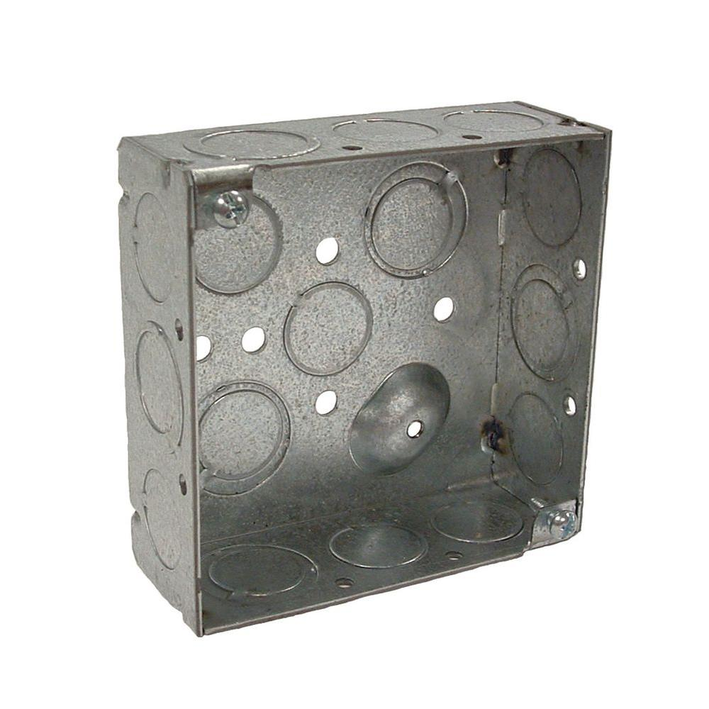 RACO 4 in. Welded Square Electrical Box with Raised Ground
