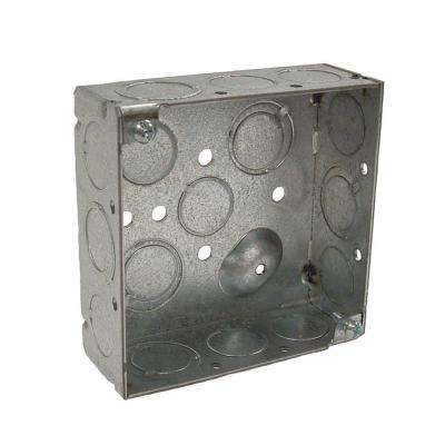 4 in. Welded Square Electrical Box with Raised Ground