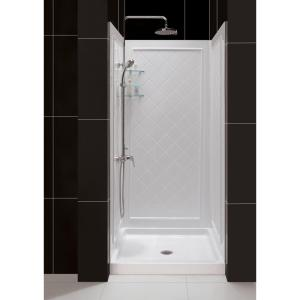 Aquatic 32 in. x 32 in. x 72 in. Gelcoat Shower Stall in White ...