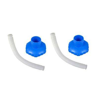 Above Ground Pool Skimmer Hose and Adapter B Replacement Parts (2-Pack)