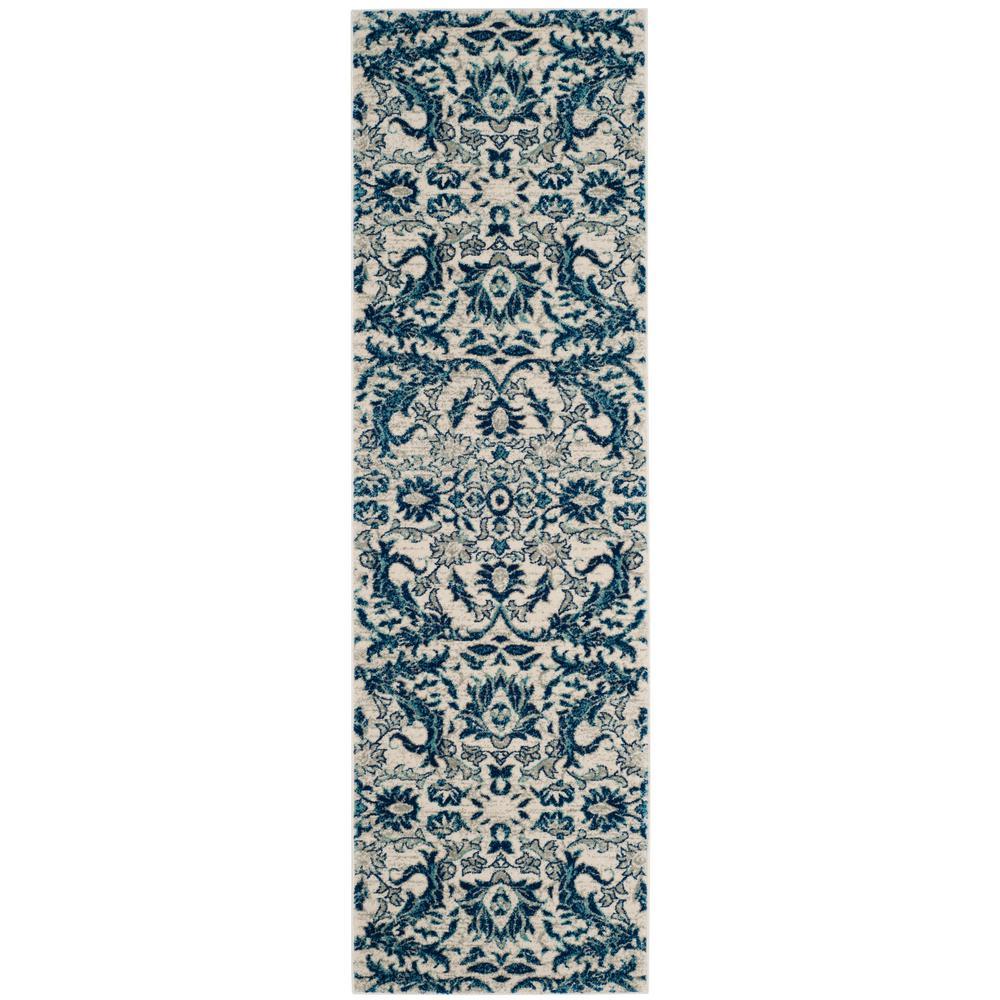 Safavieh Evoke Ivory/Blue 2 ft. 2 in. x 11 ft. Runner Rug