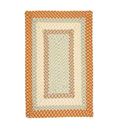 Blithe Tangerine 10 ft. x 13 ft. Braided Area Rug
