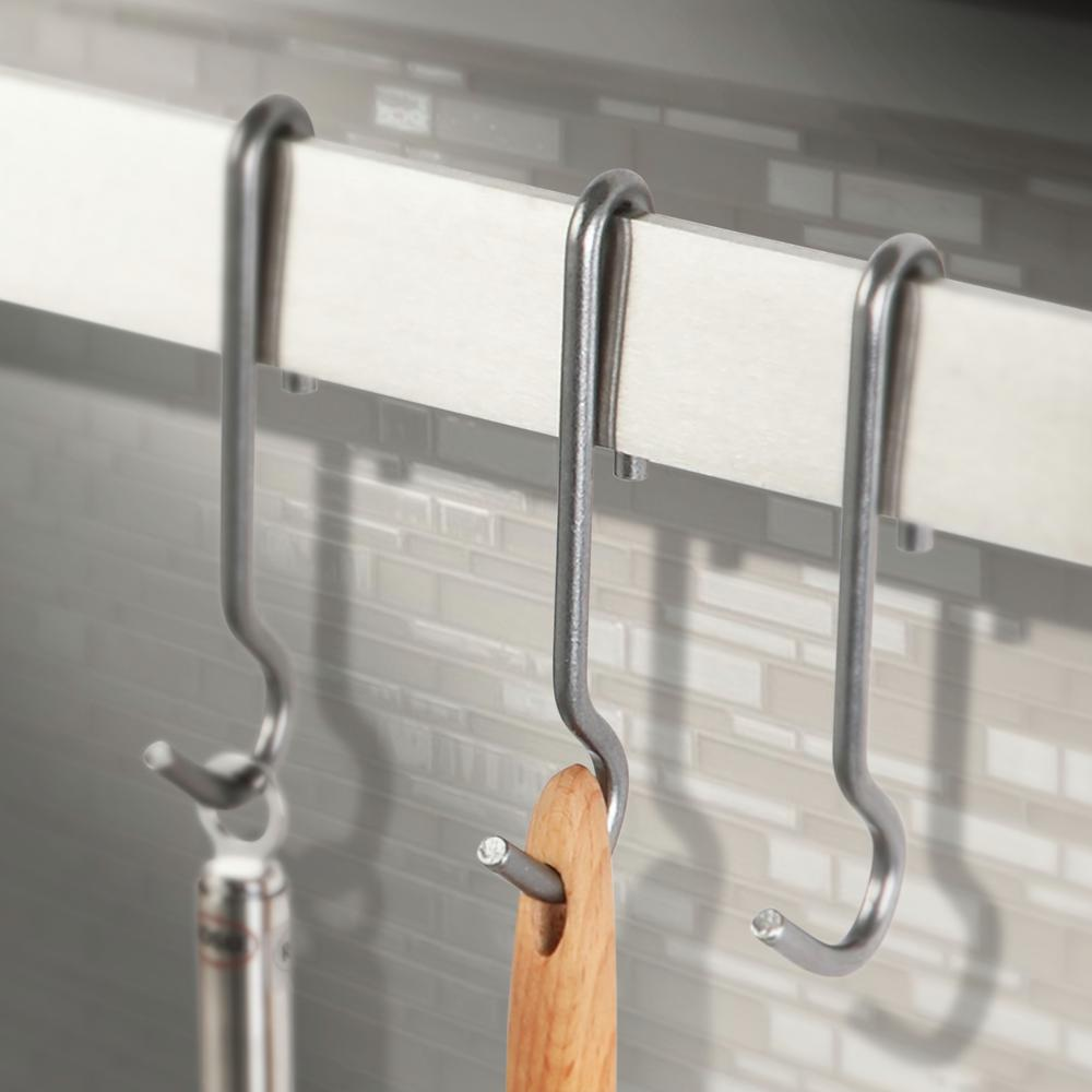 Handcrafted 4.5 in. Stainless Steel Straight Pot Hooks (6-Pack)