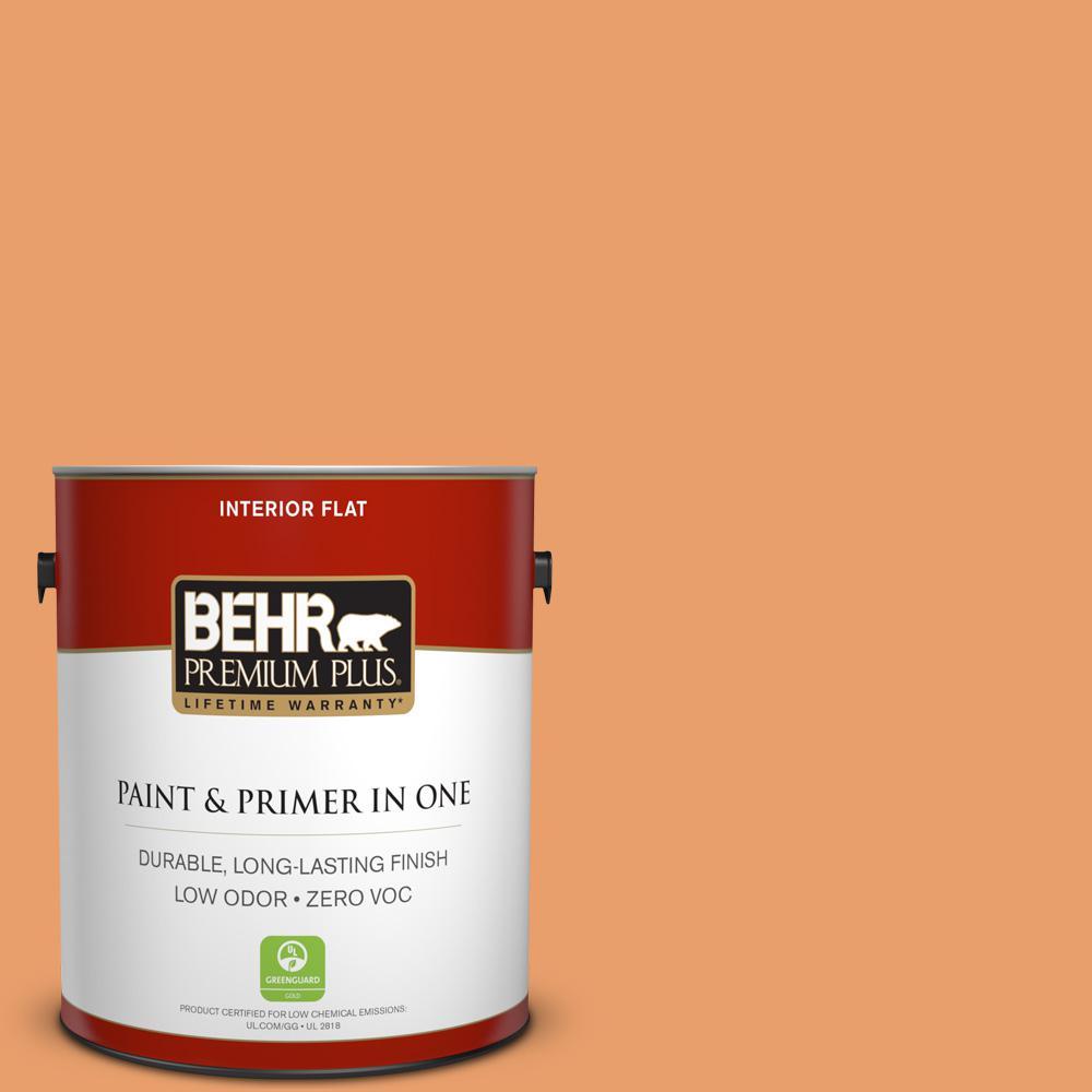 BEHR Premium Plus 1-gal. #260D-4 Copper River Zero VOC Flat Interior Paint