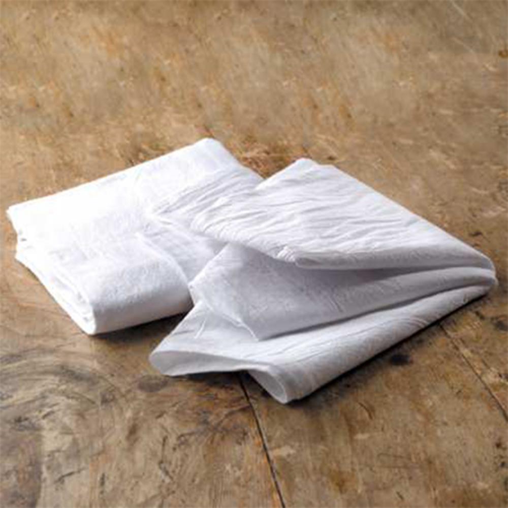 Premium 28 in. x 29 in. Soft White Flour Sack Towel (10-Pack)