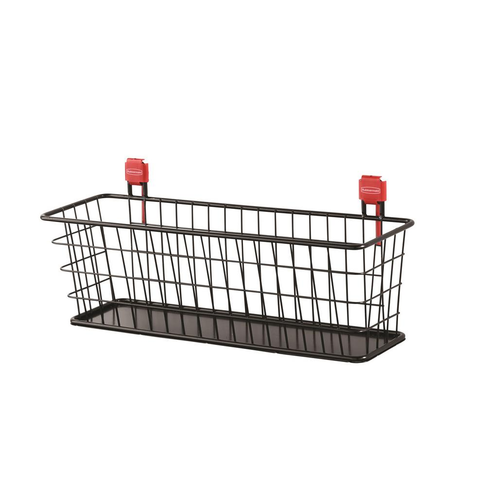 Rubbermaid Small Black Shed Wire Basket-2024656 - The Home Depot
