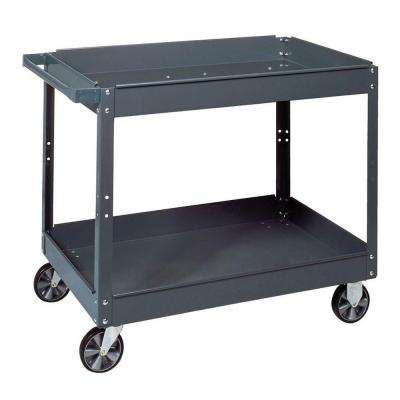 16 in. W x 30 in. D x 32 in. H Steel Service Cart