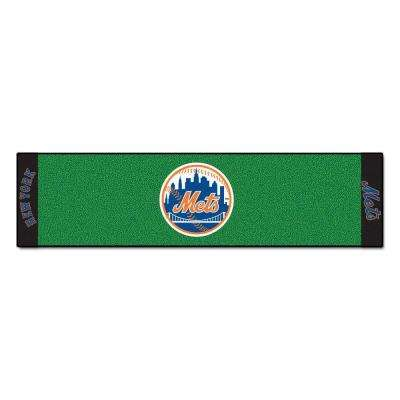 MLB New York Mets 1 ft. 6 in. x 6 ft. Indoor 1-Hole Golf Practice Putting Green