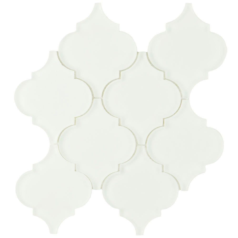 Lantern Frosted Ice White 8 in x