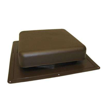 60 in. NFA Resin Square-Top Roof Louver Static Vent in Brown
