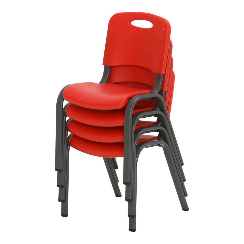 Merveilleux Lifetime 5 Piece Red And White Childrenu0027s Table And Chair Set 80556   The  Home Depot