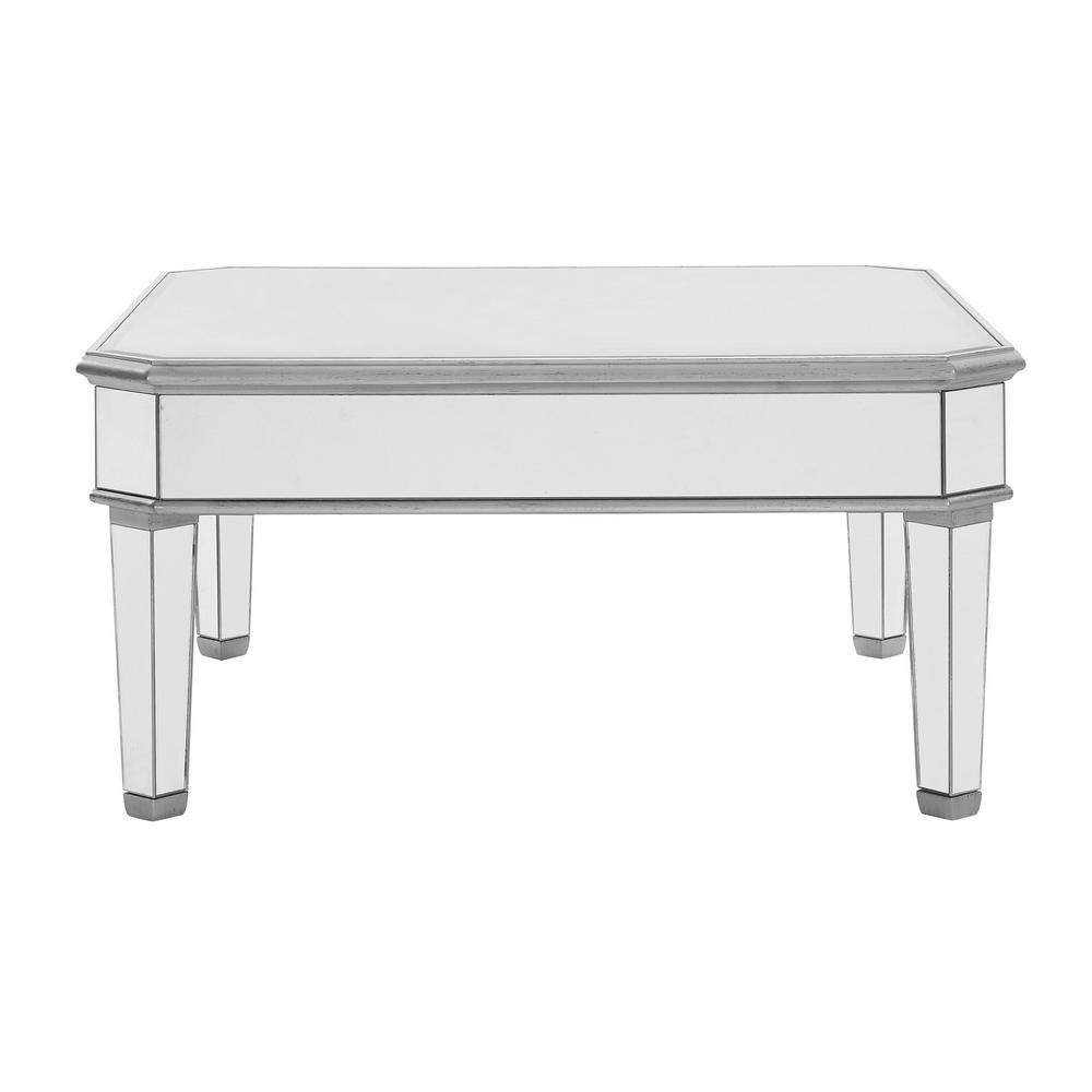 Rhodes 38 In Hand Rubbed Antique Silver Square Coffee Table