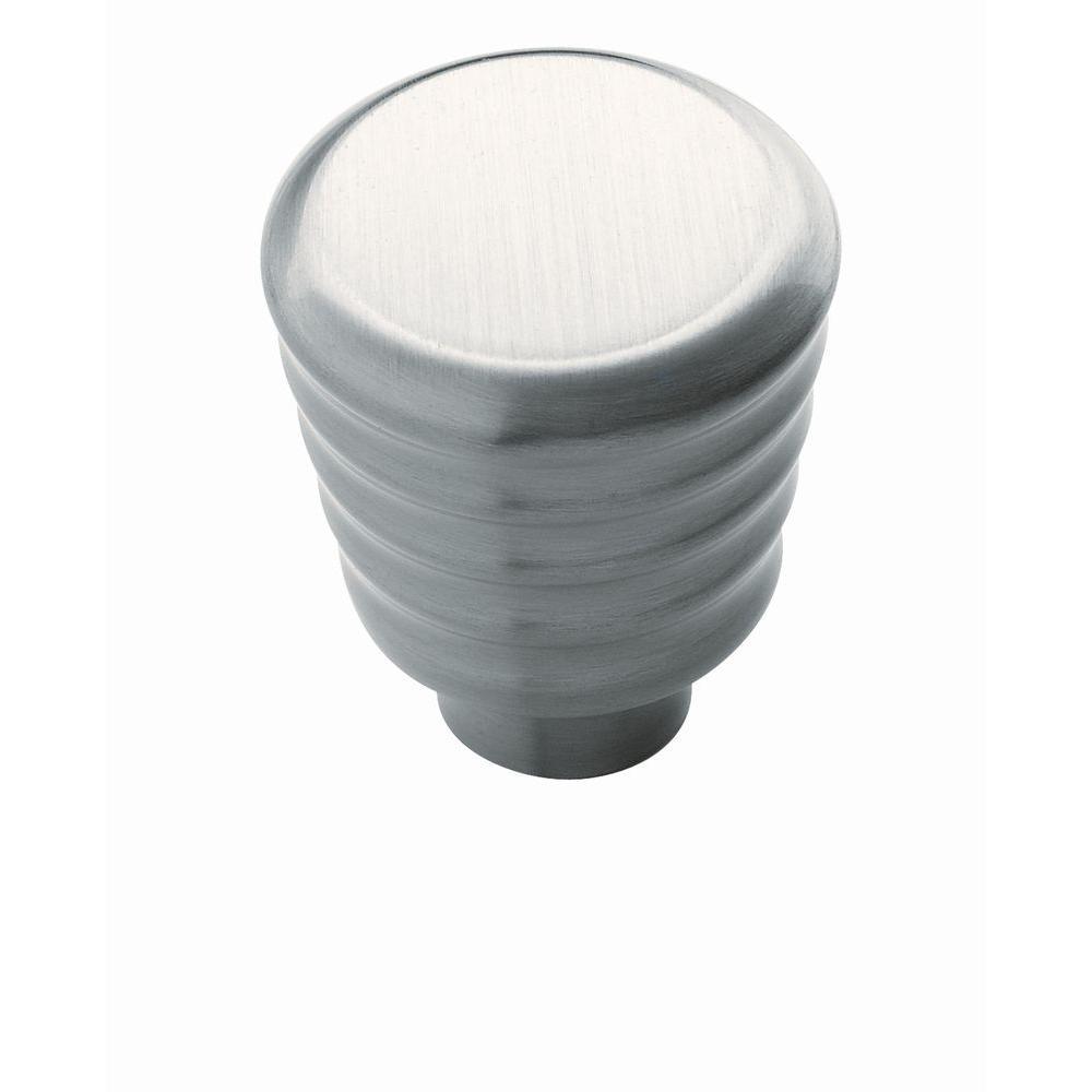 Amerock Crosley 1 in (25 mm) Diameter Satin Nickel Cabinet Knob