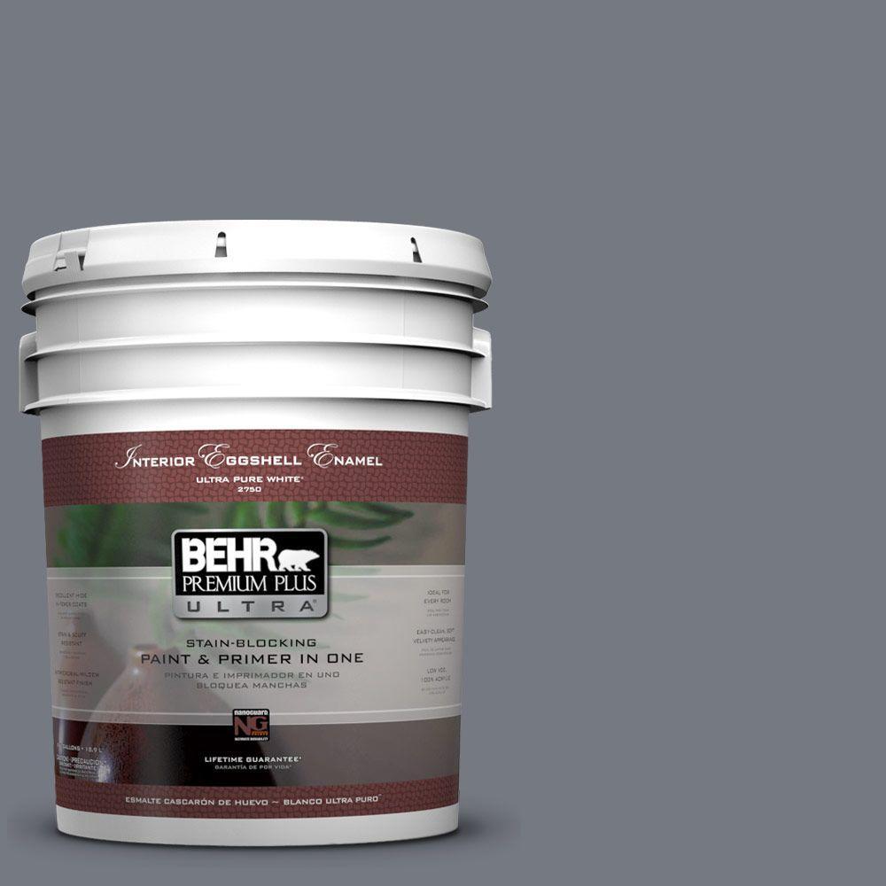 5 gal. #N510-5 Liquid Mercury Color Eggshell Enamel Interior Paint