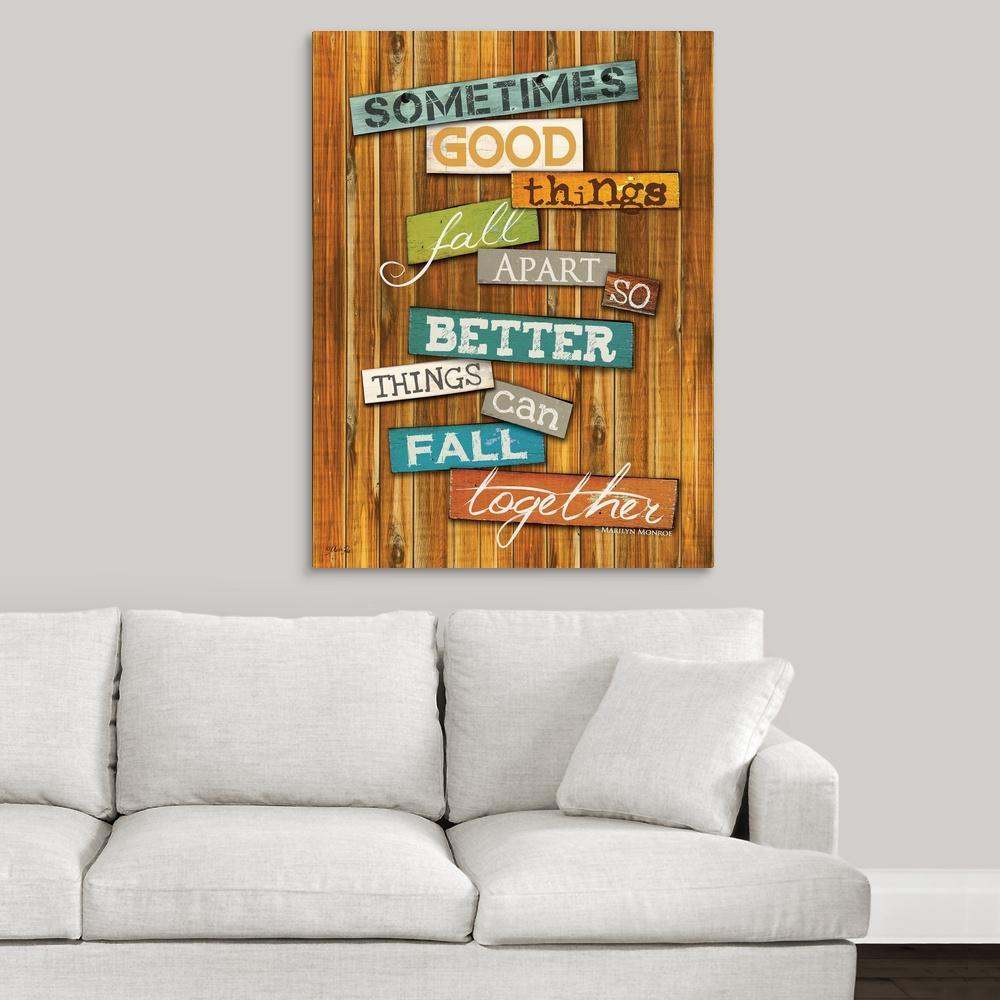 GreatBigCanvas ''Better Things'' by Marla Rae Canvas Wall Art 2349983_24_30x40