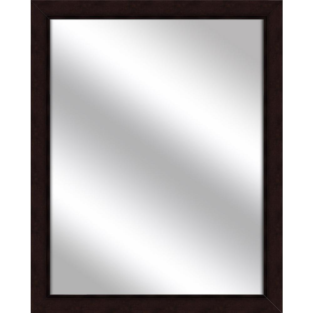 Medium Rectangle Dark Bronze Art Deco Mirror (31 in. H x 25 in. W)