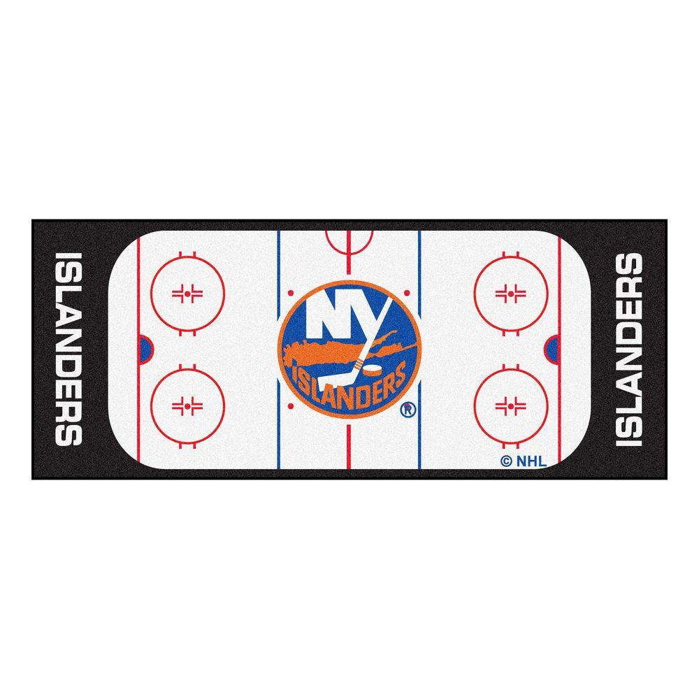 Fanmats New York Islanders 2 Ft 6 In X 6 Ft Rink Rug