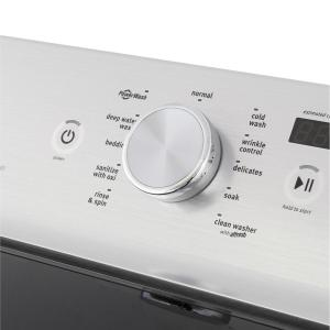 Maytag 5 3 cu  ft  High-Efficiency White Top Load Washing Machine with Deep  Clean Option, ENERGY STAR