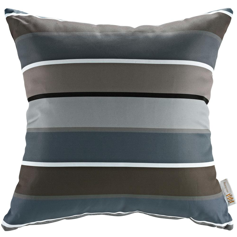 MODWAY Square Outdoor Throw Pillow in Stripe