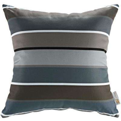 Square Outdoor Throw Pillow in Stripe