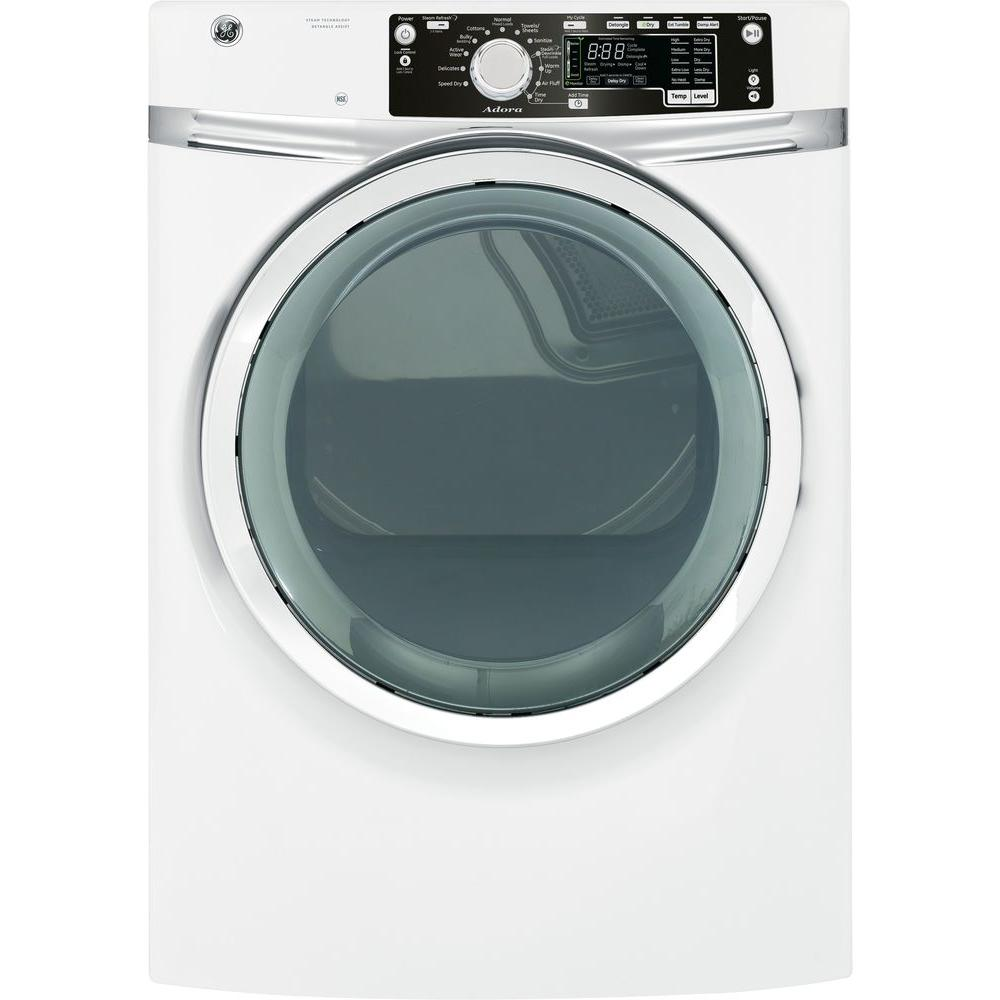 GE Adora 8.3 cu. ft. Gas Dryer with Steam in White