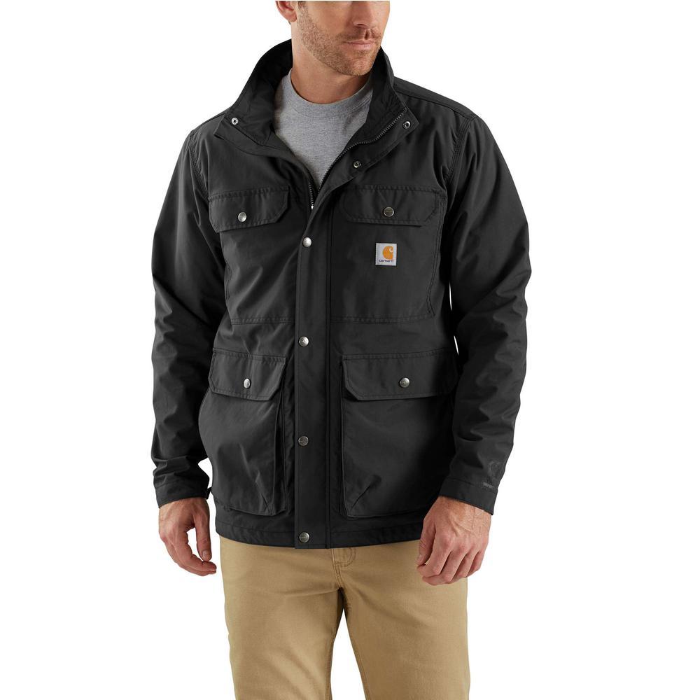 Men's XX-Large Black Nylon Utility Coat
