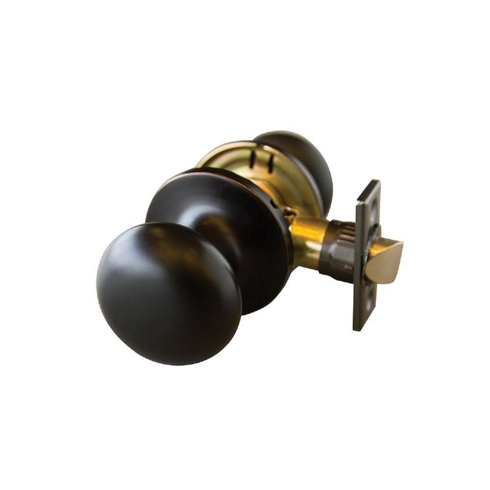 Canton Oil Rubbed Bronze Passage Knob with Universal 6-Way Latch