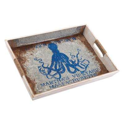 Nautical Blue Large Tray