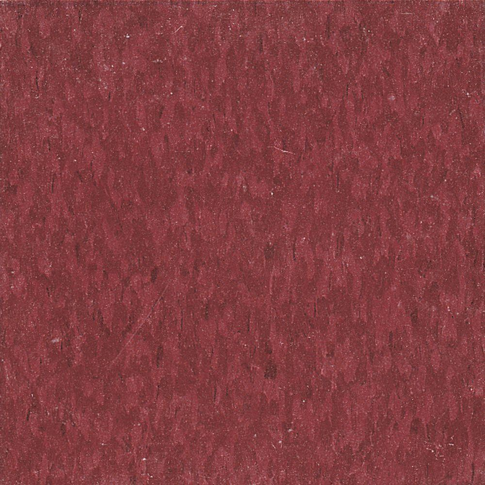 Imperial Texture VCT 12 in. x 12 in. Pomegranate Red Standard