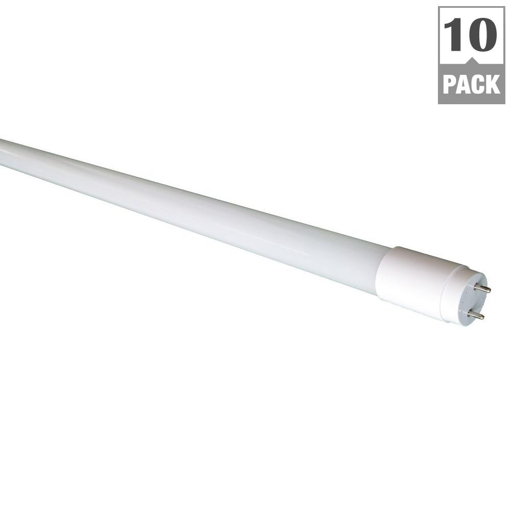 32W Equivalent Bright White 18-Watt 4 ft. Compatible LED Glass Linear