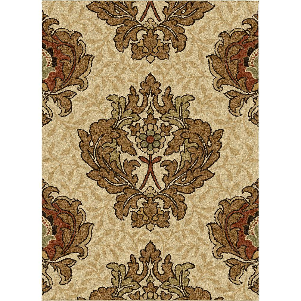 Orian Harrison Bisque 7 ft. 10 in. x 10 ft. 10 in. Area Rug